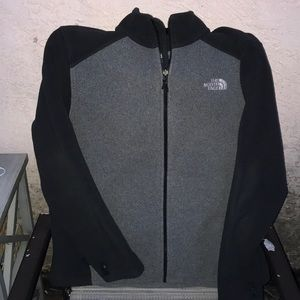 The North Face Men's Fleece Jacket Gray/Black